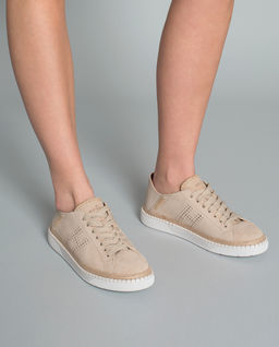 Sneakersy H327 z zamszu