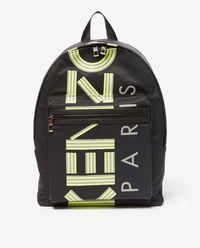 Plecak z neonowym logo
