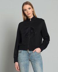 Bluza z haftowanym logo czarna