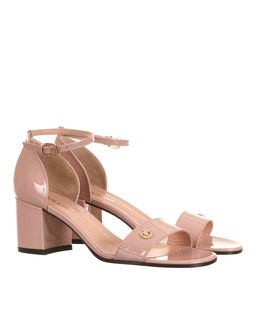Sandały z lakierowanej skóry