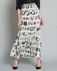 Spódnica jedwabna z printem
