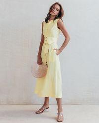 Lněné šaty Gia