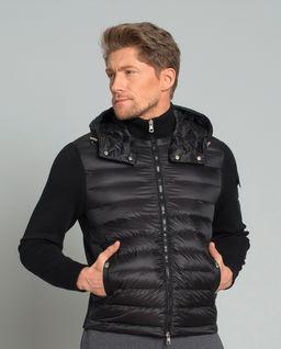 Czarna bluza z pikowaniem