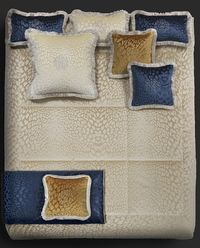 Poduszka Monogram Pantera Blue