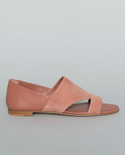 Sandály z kombinované kůže