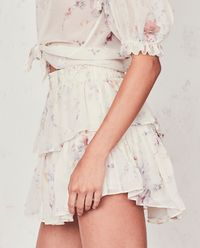 Spódnica z jedwabiu Ruffle