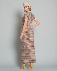 Pruhované maxi šaty Aube