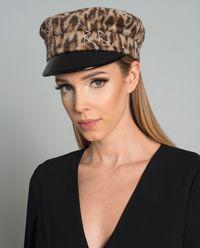 Vlněná čepice s kšiltem