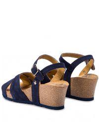Sandały zamszowe na koturnie