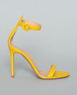 Sandały na szpilce Portofino żółte