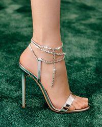 Sandály na jehle Serena s krystaly Swarovski