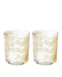 Zestaw dwóch szklanek Zebra Gold