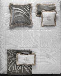 Poduszka Monogram Zebra Bianco