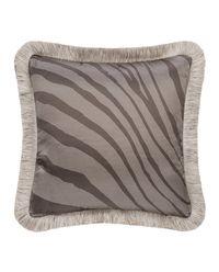 Poduszka Monogram Zebra Grigio