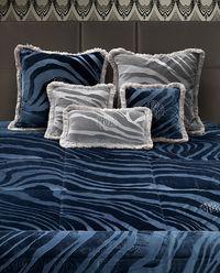 Poduszka Monogram Zebra Blue