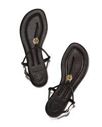 Kožené žabky Emmy černé