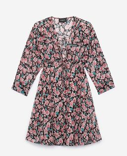 Sukienka z jedwabiu w róże
