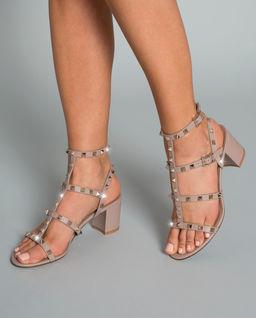 Sandały ze skóry Rockstud