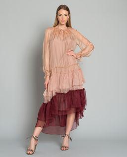 Sukienka jedwabna Franceska Red