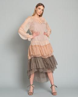 Sukienka jedwabna Franceska Nude