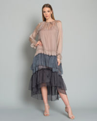 Sukienka jedwabna Franceska Stone