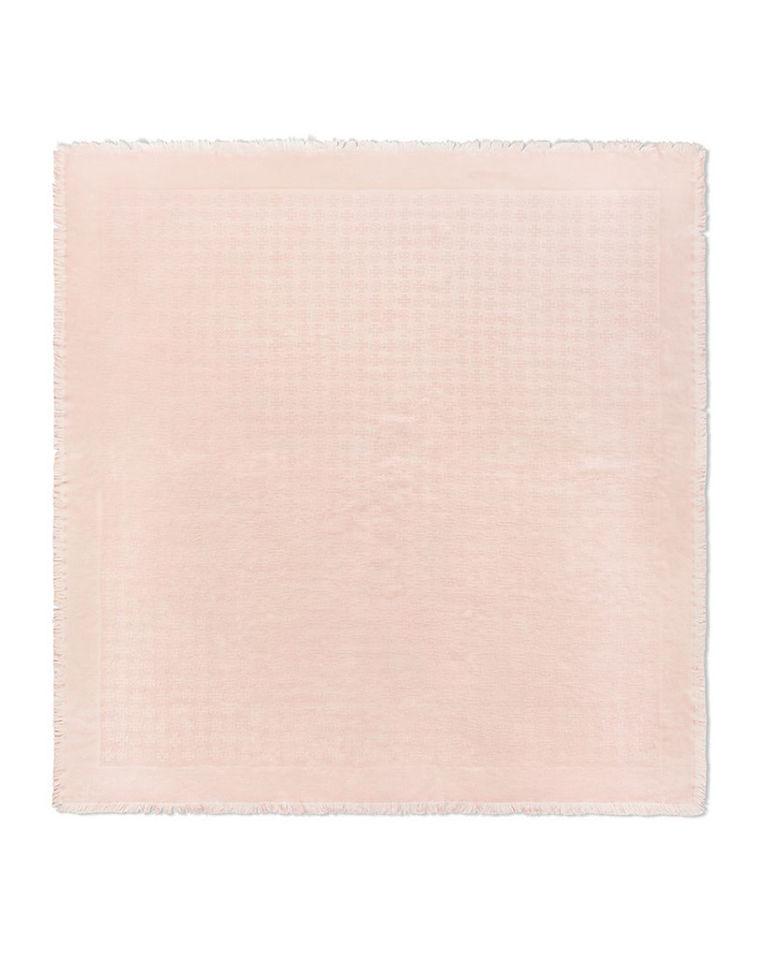 Chusta wełniana z jedwabiem różowa