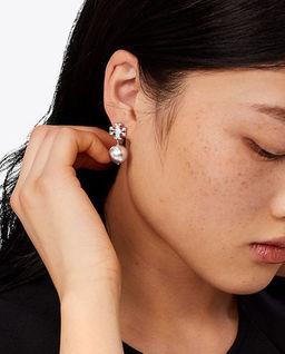 Kolczyki perłowe z kryształami
