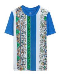 T-shirt z jedwabiu i lnu