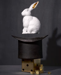 Rzeźba królika Lapin