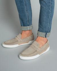 Loafery zamszowe