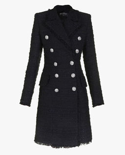 Tweedowy płaszcz