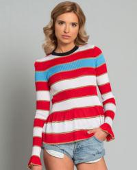 Sweter z falbaną