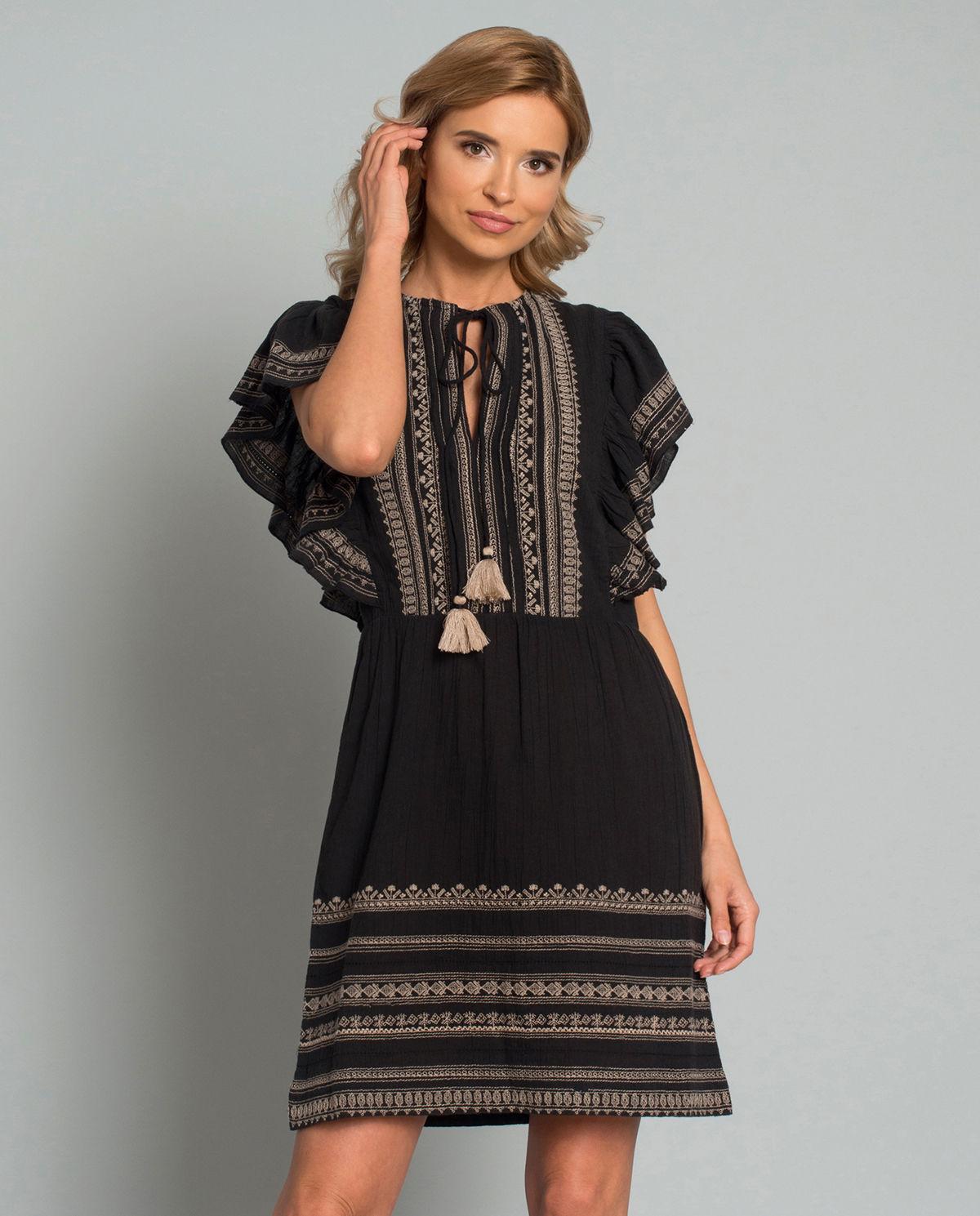 8ccabe67 Sukienka z haftem STAR MELA – Kup Teraz! Najlepsze ceny i opinie ...