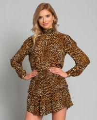Sukienka w cętki Antoinette Leo