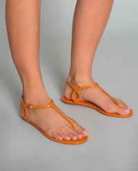 Sandały ze skóry krokodyla Almost Bare