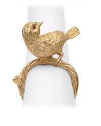 Zestaw 4 pierścieni do serwetek Bird