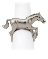 Zestaw 4 pierścieni do serwetek Horse