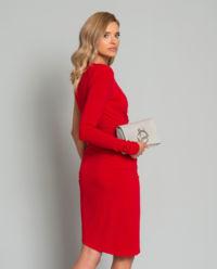 Sukienka midi z jednym rękawem