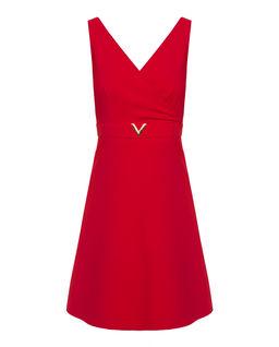 Sukienka z wełny czerwona