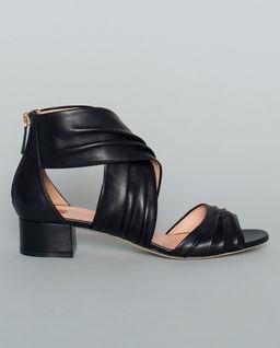 Czarne sandały z naturalnej skóry