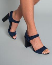 Sandały zamszowe na obcasie