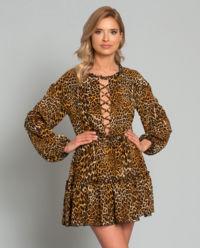 Sukienka w cętki Giselle Lace Up
