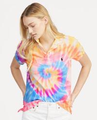 T-shirt polo z kolorową grafiką