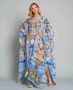 Maxi šaty s krystaly Swarovski