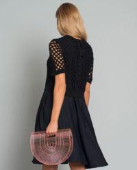 Šaty z kombinované tkaniny