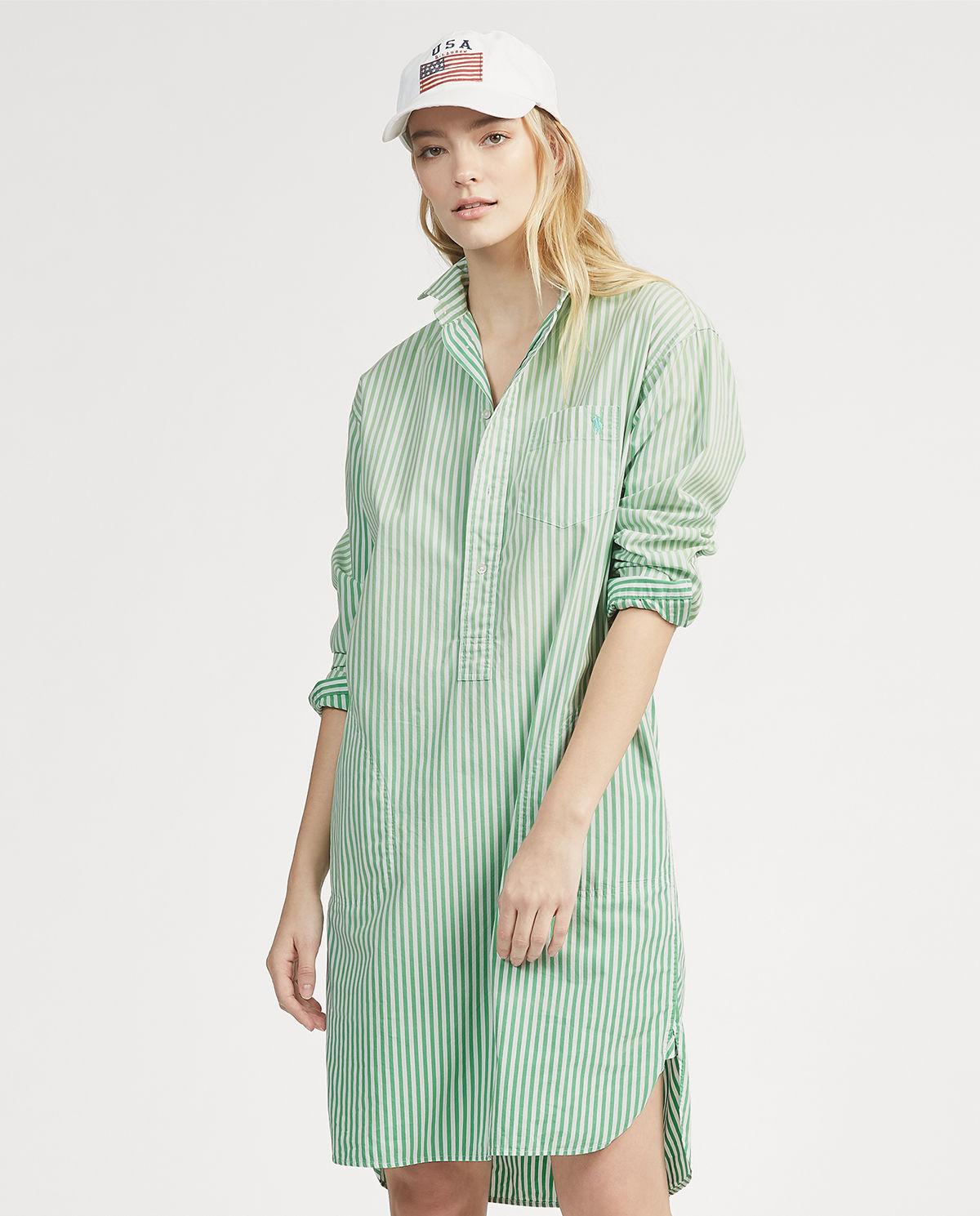 92c72bef Sukienka midi w paski RALPH LAUREN – Kup Teraz! Najlepsze ceny i ...