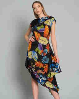 Sukienka asymetryczna Ivana