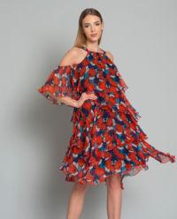 Sukienka z falbanami Esuberante