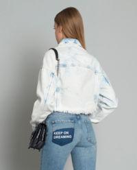 Kurtka jeansowa z efektem sprania