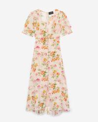 Sukienka z jedwabiu w kwiaty